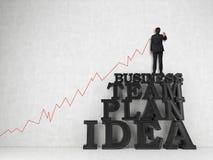 Διάγραμμα σχεδίων επιχειρηματιών Στοκ εικόνες με δικαίωμα ελεύθερης χρήσης