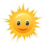 διάνυσμα ήλιων smiley εικονιδί& Στοκ φωτογραφία με δικαίωμα ελεύθερης χρήσης