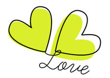 διάνυσμα αγάπης καρδιών Στοκ Εικόνες