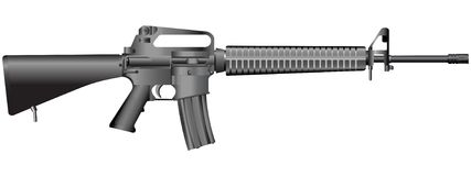 διάνυσμα απεικόνισης πυροβόλων όπλων Στοκ εικόνα με δικαίωμα ελεύθερης χρήσης