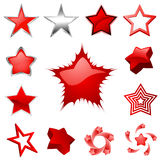 διάνυσμα αστεριών γραφική& Στοκ Εικόνες