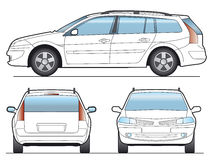 διάνυσμα αυτοκινήτων Στοκ εικόνα με δικαίωμα ελεύθερης χρήσης