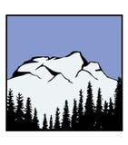 διάνυσμα βουνών λογότυπω Στοκ φωτογραφία με δικαίωμα ελεύθερης χρήσης