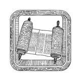 Διάνυσμα εικονιδίων θρησκείας Kabbalah ιουδαϊσμού Torah Στοκ φωτογραφίες με δικαίωμα ελεύθερης χρήσης