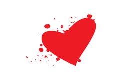 διάνυσμα καρδιών αίματος Στοκ Εικόνα