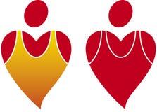 διάνυσμα καρδιών υγείας Στοκ φωτογραφίες με δικαίωμα ελεύθερης χρήσης