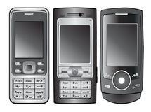διάνυσμα κινητών τηλεφώνων Στοκ εικόνες με δικαίωμα ελεύθερης χρήσης