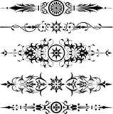 διάνυσμα λουλουδιών στοιχείων σχεδίου γωνιών Στοκ Φωτογραφίες