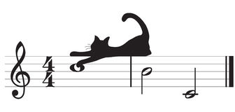 διάνυσμα μουσικής γατών Στοκ Εικόνες