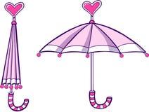 διάνυσμα ομπρελών απεικόν& Στοκ φωτογραφία με δικαίωμα ελεύθερης χρήσης