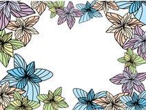 διάνυσμα πλαισίων λουλ&omic Στοκ Εικόνα
