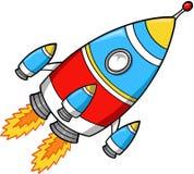 διάνυσμα πυραύλων απεικόνισης Στοκ Εικόνα