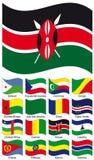 διάνυσμα σημαιών συλλογή Στοκ Εικόνες