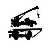 Διάνυσμα σκιαγραφιών γερανών Στοκ εικόνα με δικαίωμα ελεύθερης χρήσης
