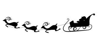 διάνυσμα σκιαγραφιών santa Claus Στοκ φωτογραφίες με δικαίωμα ελεύθερης χρήσης