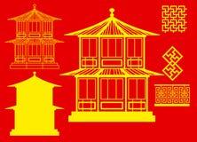 διάνυσμα σπιτιών 3 Κίνας Στοκ Φωτογραφίες
