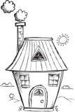 Διάνυσμα σπιτιών Doodle Στοκ Φωτογραφία