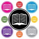 διάνυσμα συμβόλων βιβλίων Στοκ εικόνες με δικαίωμα ελεύθερης χρήσης