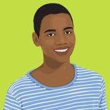 Διάνυσμα του νέου ενήλικου πορτρέτου Στοκ Φωτογραφίες
