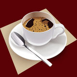 διάνυσμα φλυτζανιών καφέ Στοκ εικόνα με δικαίωμα ελεύθερης χρήσης