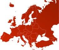 διάνυσμα χαρτών της Ευρώπης Στοκ Φωτογραφίες