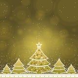 διάνυσμα Χριστουγέννων καρτών Στοκ Εικόνα