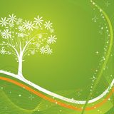 διάνυσμα δέντρων ανασκόπησης Στοκ εικόνες με δικαίωμα ελεύθερης χρήσης