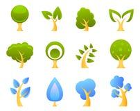 διάνυσμα δέντρων εικονιδί& Στοκ Εικόνα