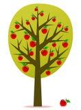 διάνυσμα δέντρων μηλιάς Στοκ Εικόνα