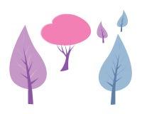 διάνυσμα δέντρων συλλογής Στοκ εικόνα με δικαίωμα ελεύθερης χρήσης