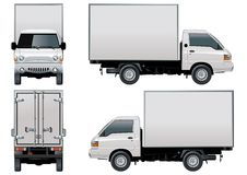 διάνυσμα truck παράδοσης φορτ Στοκ εικόνες με δικαίωμα ελεύθερης χρήσης
