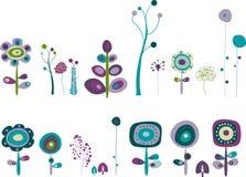 διάστημα λουλουδιών Στοκ Εικόνες
