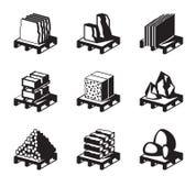 Διάφορα οικοδομικών υλικά οικοδόμησης και Στοκ φωτογραφίες με δικαίωμα ελεύθερης χρήσης