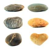 Διάφορες πέτρες χρώματος που απομονώνονται Στοκ Εικόνες