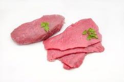 Διάφορες λωρίδες του βόειου κρέατος Στοκ Φωτογραφία