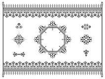 Διαιρέτες στοιχείων σχεδίου διακοσμήσεων με το φράκτη Στοκ εικόνα με δικαίωμα ελεύθερης χρήσης