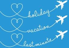 Διακοπές, διακοπές, πέταγμα, διανυσματικό σύνολο Στοκ Εικόνες