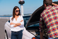 Διακοπή αυτοκινήτων Στοκ εικόνα με δικαίωμα ελεύθερης χρήσης