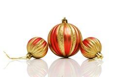 Διακοσμήσεις Χριστουγέννων σε εορταστικό Στοκ Εικόνες