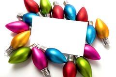 διακοσμήσεις Χριστουγέννων notecard Στοκ εικόνες με δικαίωμα ελεύθερης χρήσης
