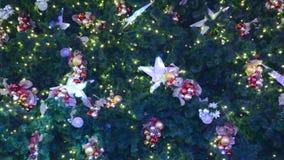 Διακοσμήσεις Χριστούγεννο-δέντρων απόθεμα βίντεο