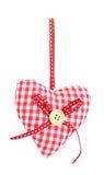 διακοσμητική καρδιά υφάσματος Στοκ φωτογραφίες με δικαίωμα ελεύθερης χρήσης