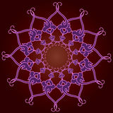 Διακοσμητική στρογγυλή δαντέλλα, διακόσμηση κύκλων. Στοκ Εικόνα