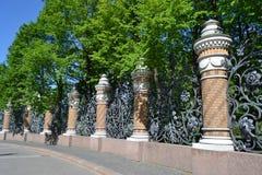 Διακοσμητικός φράκτης χυτοσιδήρων Στοκ φωτογραφία με δικαίωμα ελεύθερης χρήσης