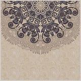 Διακοσμητικό πρότυπο κύκλων με το floral υπόβαθρο Στοκ Εικόνες