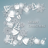 Διακοσμητικό σχέδιο ή κάρτα Χριστουγέννων Στοκ Εικόνες