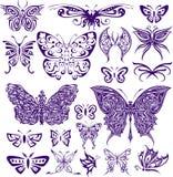 Διακοσμητικό σχέδιο πεταλούδων Στοκ Εικόνες
