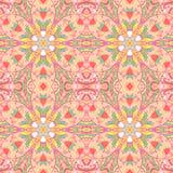 Διακοσμητικό υπόβαθρο λουλουδιών arabesque Στοκ εικόνα με δικαίωμα ελεύθερης χρήσης
