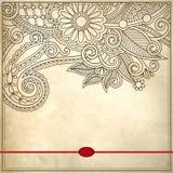 Διακοσμητικό floral σχέδιο με τη θέση για το κείμενό σας Στοκ φωτογραφία με δικαίωμα ελεύθερης χρήσης