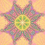 Διακοσμητικό mandala κύκλων Στοκ εικόνα με δικαίωμα ελεύθερης χρήσης